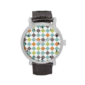 Modelo clásico de color topo anaranjado verde de A Relojes De Pulsera