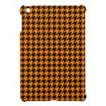 Modelo clásico de Houndstooth del naranja y del ne iPad Mini Cárcasas