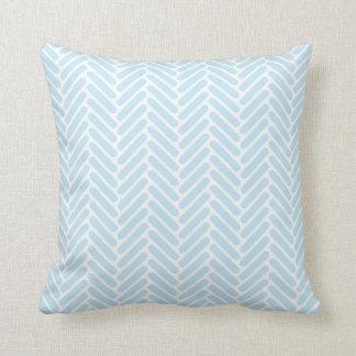 Modelo clásico de la raspa de arenque en azules almohadas