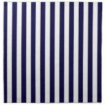 Modelo clásico de la raya de los azules marinos y servilleta