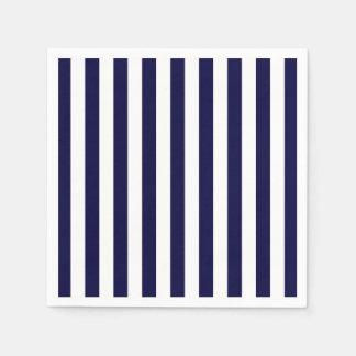 Modelo clásico de la raya de los azules marinos y servilletas de papel