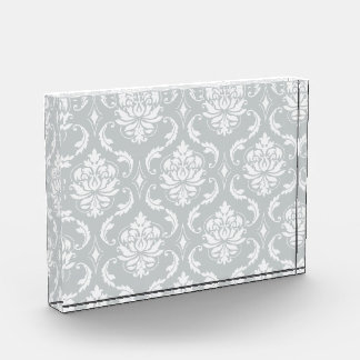 Modelo clásico del damasco del blanco gris