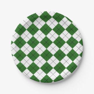 Modelo clásico verde y blanco de Argyle