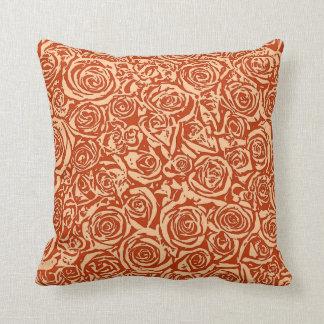 Modelo color de rosa abstracto moderno, mandarina cojín decorativo