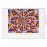 Modelo color de rosa amarillo y púrpura de cuero tarjeta