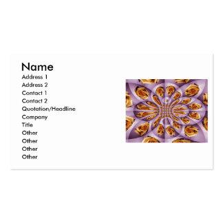Modelo color de rosa amarillo y púrpura de cuero tarjeta de visita