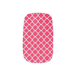 Modelo color de rosa americano elegante de pegatina para manicura