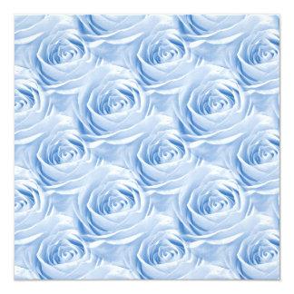 Modelo color de rosa azul del papel pintado invitaciones personalizada
