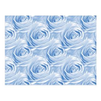 Modelo color de rosa azul del papel pintado postal