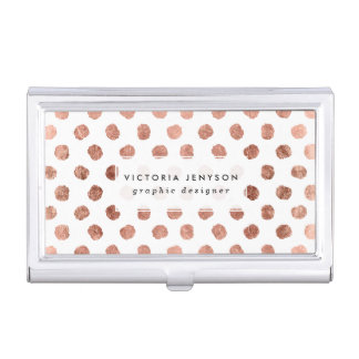 Modelo color de rosa elegante de las pinceladas de cajas de tarjetas de visita