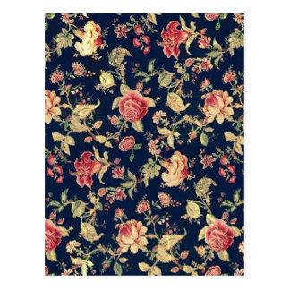 Modelo color de rosa floral del vintage elegante tarjetas postales