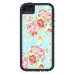 Modelo color de rosa lamentable azul de los rosas  iPhone 5 Case-Mate carcasas