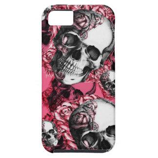 Modelo color de rosa rosado del cráneo funda para iPhone SE/5/5s
