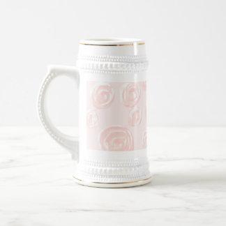 Modelo color de rosa rosado suave bonito tazas de café
