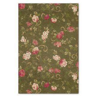 Modelo color de rosa y verde oliva retro papel de seda