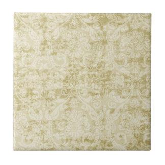 Modelo color nata del papel pintado floral del dam azulejo cuadrado pequeño