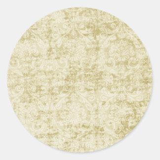 Modelo color nata del papel pintado floral del dam pegatina