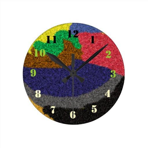 Modelo coloreado al azar reloj