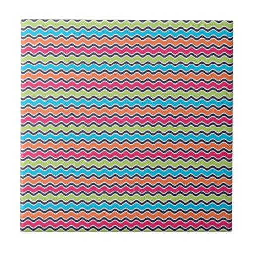Modelo coloreado arco iris de la raya tejas  ceramicas