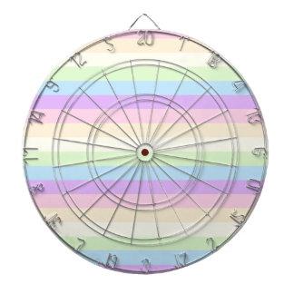 Modelo coloreado arco iris en colores pastel de la