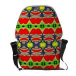Modelo coloreado brillante bolsas de mensajeria