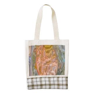 Modelo coloreado extraño abstracto bolsa tote zazzle HEART