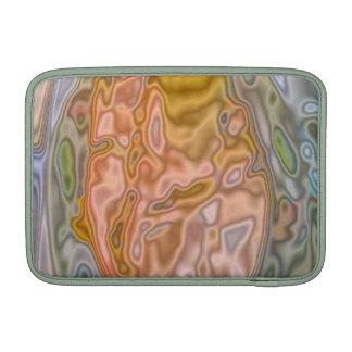 Modelo coloreado extraño abstracto fundas para macbook air