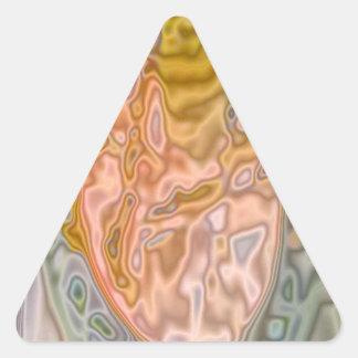 Modelo coloreado extraño abstracto pegatina triangular