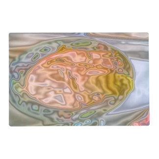 Modelo coloreado extraño abstracto salvamanteles