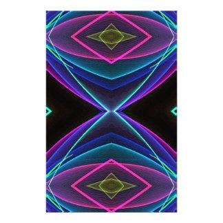 Modelo coloreado fluorescente de neón enrrollado  papeleria de diseño