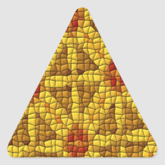 Modelo coloreado mosaico brillante pegatina triangular