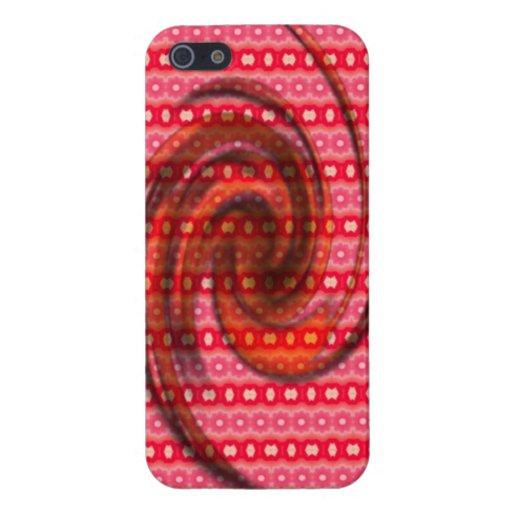 Modelo coloreado rosado iPhone 5 cárcasa