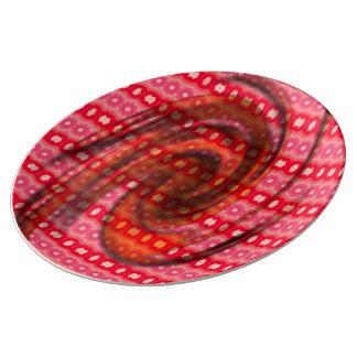 Modelo coloreado rosado platos de cerámica