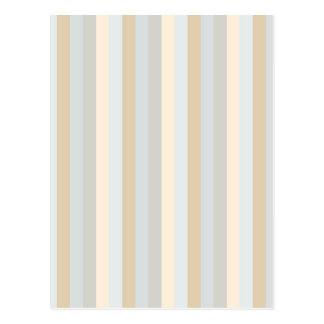 Modelo coloreado suavidad de las rayas verticales postal