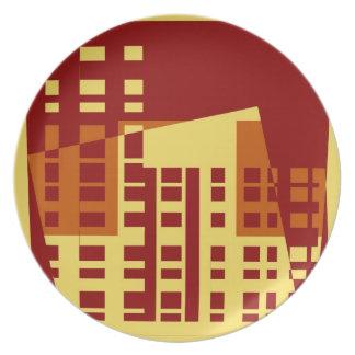 Modelo colorido #2 de la ciudad del arte pop del v platos