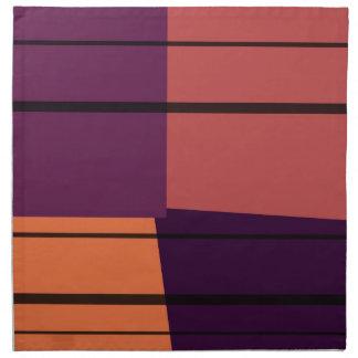 Modelo colorido #2 de las rayas del arte pop del v servilletas imprimidas