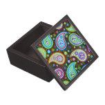 Modelo colorido 3 de Moder Paisley - diamantes Caja De Joyas De Calidad