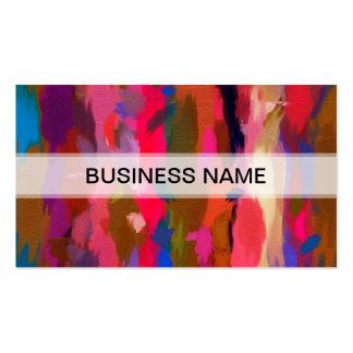 Modelo colorido abstracto #2 de la acuarela tarjetas de visita