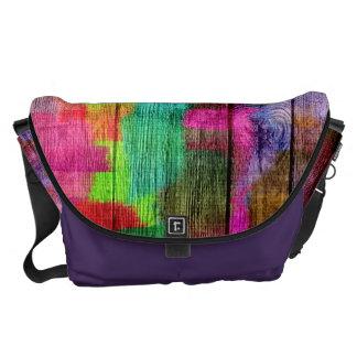 Modelo colorido abstracto de la acuarela bolsas de mensajería