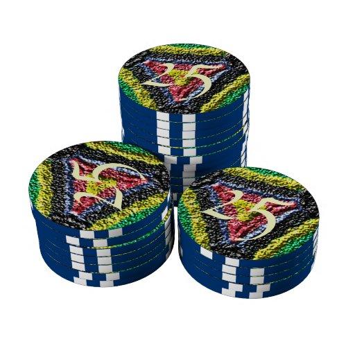 Modelo colorido abstracto de la textura fichas de póquer
