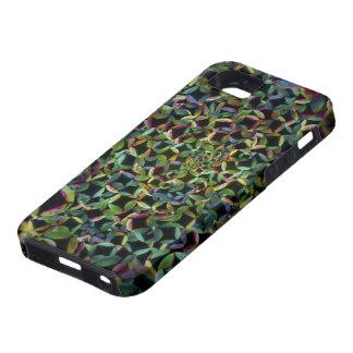 Modelo colorido abstracto de las burbujas - caso funda para iPhone 5 tough
