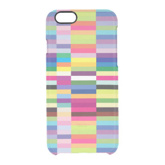 Modelo colorido abstracto de las rayas funda clearly™ deflector para iPhone 6 de uncommon