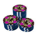 Modelo colorido abstracto del caleidoscopio juego de fichas de póquer