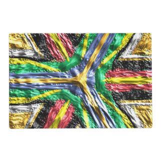 Modelo colorido abstracto extraño salvamanteles