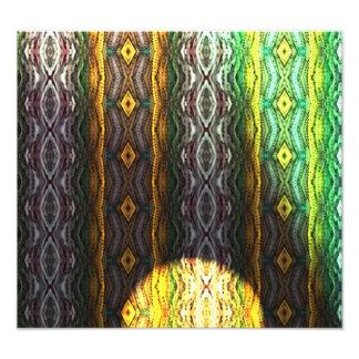Modelo colorido abstracto impresión fotográfica