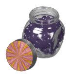 Modelo colorido abstracto frascos de cristal jelly belly