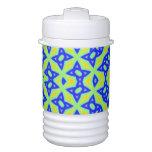 Modelo colorido abstracto moderno enfriador de bebida igloo