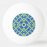 Modelo colorido abstracto moderno pelota de tenis de mesa
