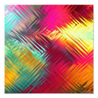 Modelo colorido abstracto psicodélico cojinete