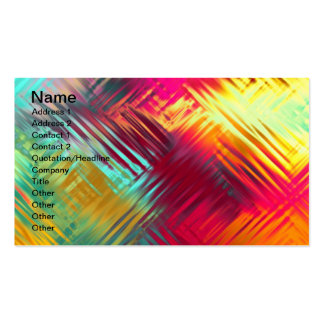 Modelo colorido abstracto psicodélico tarjetas de negocios